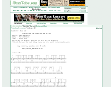 only bass guitar tabs